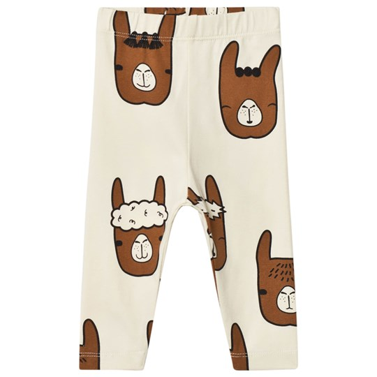 Tinycottons Llama Heads Pants Beige/Brown Beige / Brown