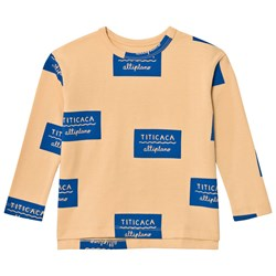 Tinycottons Titicaca Badge Relaxed Tee Nude/Blue