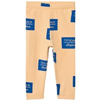 Tinycottons Titicaca Badge Pant Nude/Blue Nude / Blue