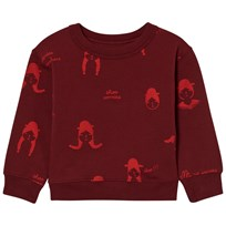 Tinycottons No-Worry Dolls Fleece Sweatshirt Bordeaux/Red Bordeaux / Red