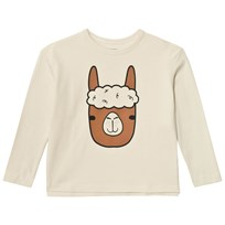 Tinycottons Llama Face Graphic Tee Beige/Brown Beige / Brown