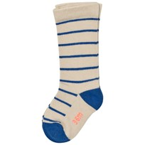 Tinycottons Stripes High Socks Beige/Blue Beige