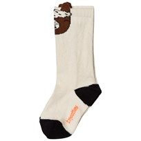 Tinycottons Llamas Heads High Socks Beige/Brown Beige / Brown