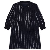 Tinycottons Alphabet Soup Fleece Dress Dark Navy/Light Blue Dark Navy / Light Blue