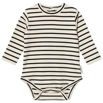Tinycottons Stripes Long Sleeve Baby Body Beige/Black beige/black