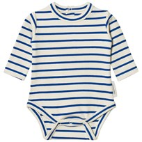 Tinycottons Stripes Long Sleeve Baby Body Beige/Blue Beige