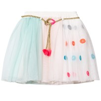 Billieblush Pink, Blue and White Tutu Skirt with Set of 3 Masks Z40