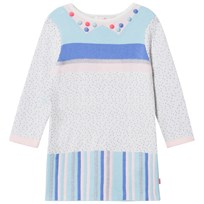 Billieblush Pink and Blue Jacquard Knit Dress Z40
