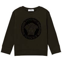 Young Versace Charcoal and Black Medusa Sweatshirt 3232