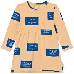 Tinycottons Titicaca Badge Dress Nude/Blue
