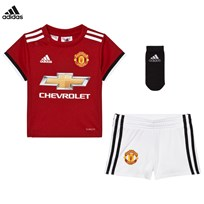 Manchester United Man United ´17 Baby Home Kit Top:REAL RED S10/WHITE/BLACK Bottom:WHITE/BLACK