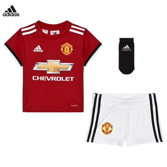 Manchester United Man United ´17 Baby Home Set Top:REAL RED S10/WHITE/BLACK Bottom:WHITE/BLACK