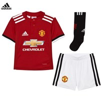 Manchester United Man United ´17 Kids Home Kit Top:REAL RED S10/WHITE/BLACK Bottom:WHITE/BLACK