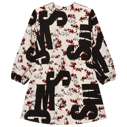 MSGM Cat Logo Silk Dress 200