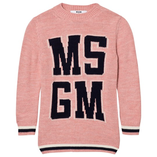 MSGM Pink Logo Knit Dress 42