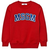 MSGM Red Branded Varsity Sweatshirt 40