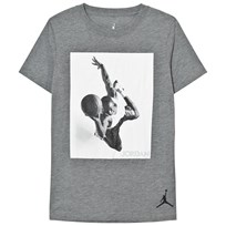Air Jordan Grey Carbon Heather Flight Heritage Tee GEH