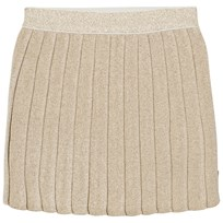Billieblush Gold Knitted Lurex Pleated Skirt Z98