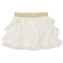 Billieblush Cream and Gold Glitter Ruffled Tutu Skirt 105