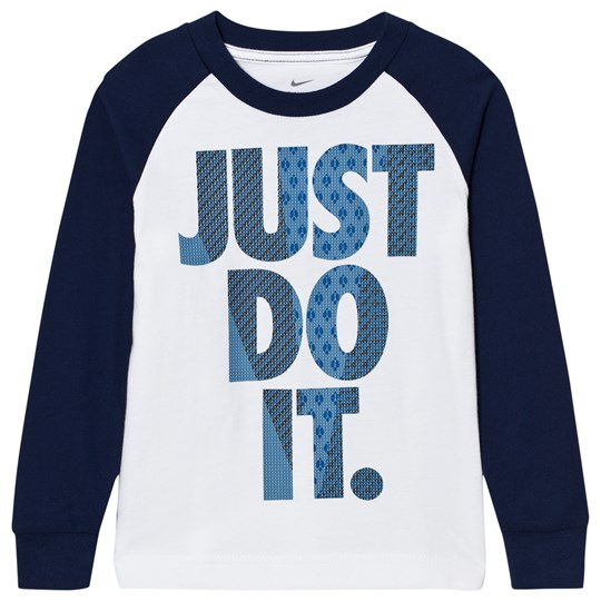 NIKE Blue and White Flyknit JDI Reglan B9K