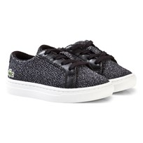 Lacoste L.12.12 Piqué Black and White Marl Sneakers Black & White