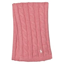 Ralph Lauren Pink Cable Knit Scarf 002