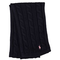 Ralph Lauren Navy Cable Knit Scarf 001