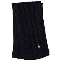Ralph Lauren Navy Cable Knit Mini Scarf 001