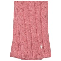 Ralph Lauren Pink Cable Knit Mini Scarf 002