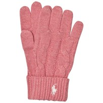 Ralph Lauren Pink Knit Gloves 002