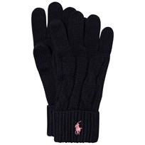 Ralph Lauren Navy Knit Gloves 001