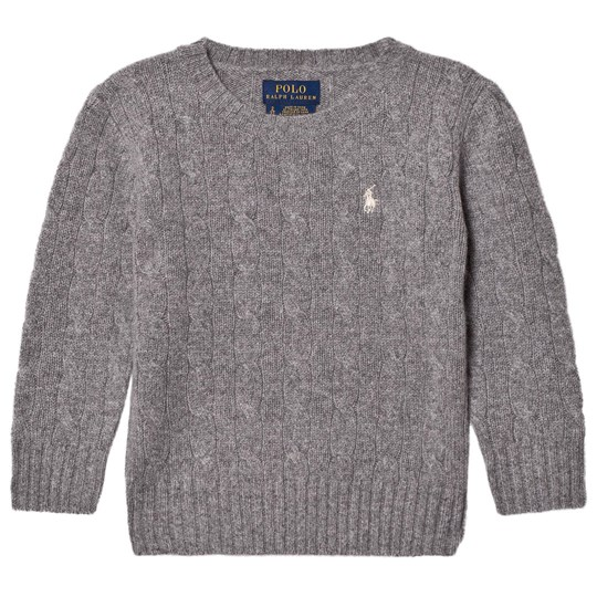 Ralph Lauren Grey Wool Knit Sweater 001