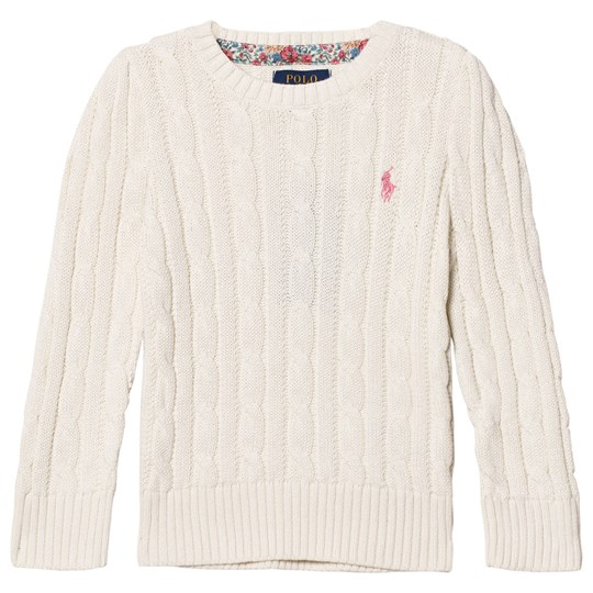Ralph Lauren Classic Cable Knit Sweater Warm White 003