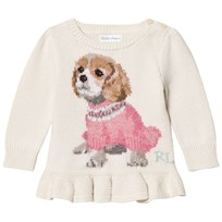 Ralph Lauren Puppy Peplum Infant Sweater 001