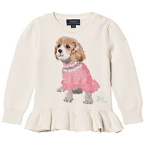 Ralph Lauren Puppy Peplum Kids Sweater 001