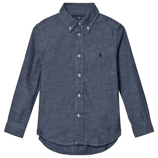 Ralph Lauren Dark Blue Chambray Shirt 001