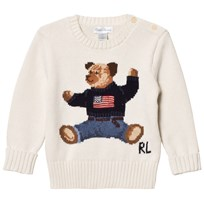 Ralph Lauren Bear Infant Sweater Warm White 001