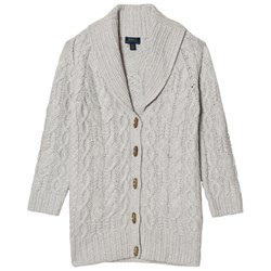Ralph Lauren Grey Cable Knit Chunky Cardigan