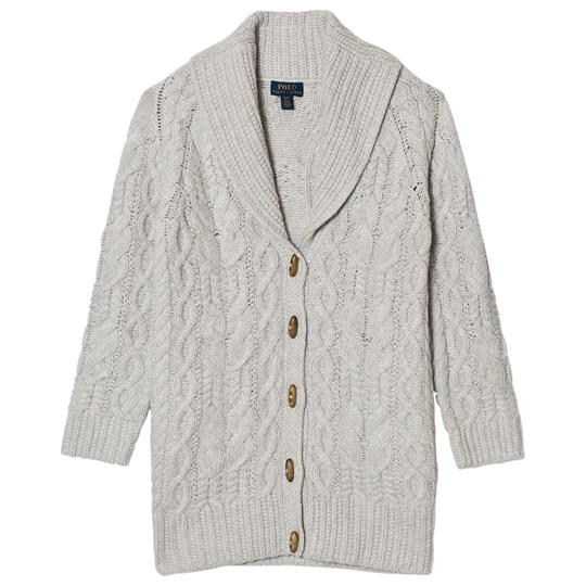 Ralph Lauren Grey Cable Knit Chunky Cardigan 001
