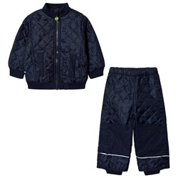 Mikk-Line 2-piece set Fleece Thermo Set Dark Marine
