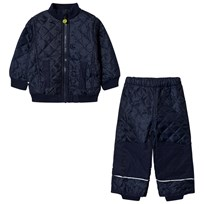 Mikk-Line Fleece Thermo Set Dark Marine Dark Marine