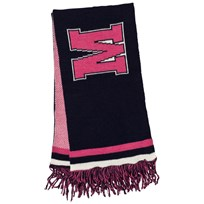 MSGM Navy and Pink Logo Scarf 60