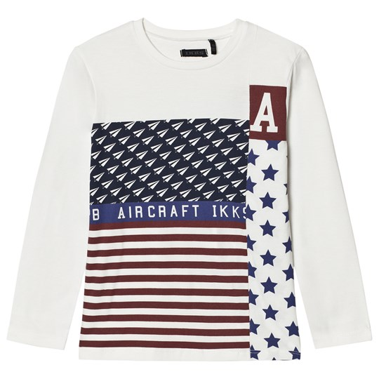 IKKS Flag and Plane Print Tee White 19