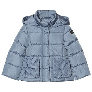 Image of Il Gufo Blue Down Puffer Coat Petal Pockets 2 years (2743725805)