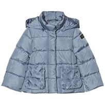 Il Gufo Blue Down Puffer Coat Petal Pockets 409