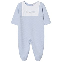 Kissy Kissy Footed Baby Body Jacquard Pale Blue