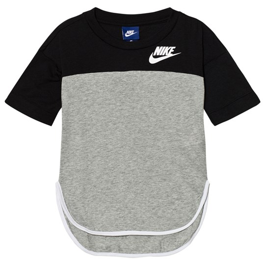 NIKE Prep GFX Tee Grey BLACK/DK GREY HEATHER/WHITE/WHITE