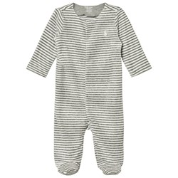 Ralph Lauren Striped Velour Footed Baby Body