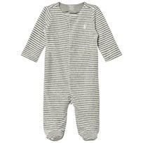 Ralph Lauren Striped Velour Footed Baby Body 002