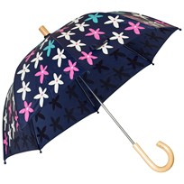 Hatley Navy Flower Graphic Print Umbrella Navy